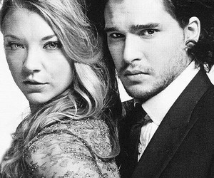 Natalie Dormer, kit harington, and game of thrones image