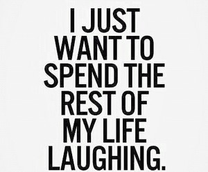 life, laughing, and quote image