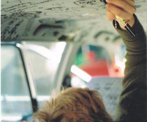 boy, car, and grunge image