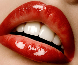 lips, red, and vampire image