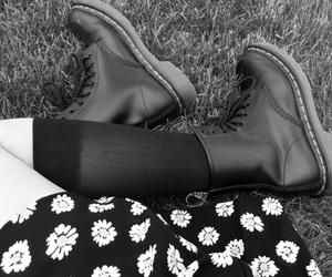 accesories, boots, and flowers image