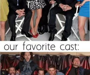 supernatural, cast, and funny image
