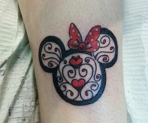 disney, minnie mouse, and tattoo image