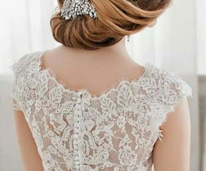 bride, hairstyle, and beautyful image