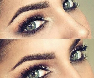 eyes, make up, and green eyes image