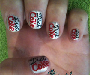 diet coke and nail art image
