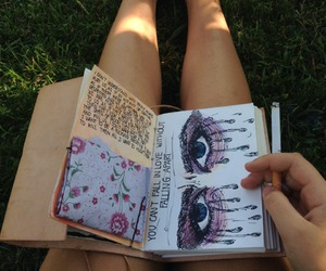cigarette, eyes, and book image