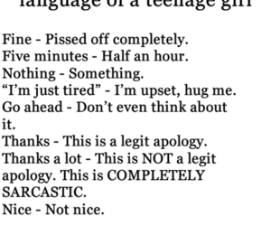 girl, language, and teenager image