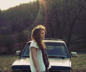 car, hair, and girl image