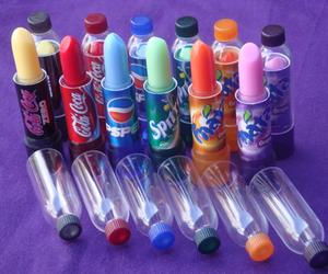 lipstick, fanta, and sprite image