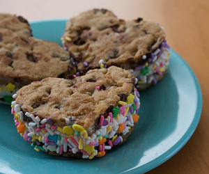food, heart, and Cookies image