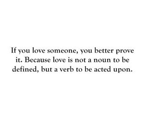 love, quotes, and verb image