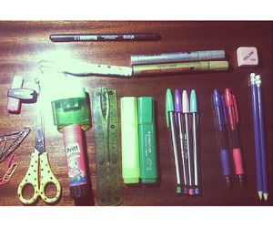 cool, school, and school supplies image