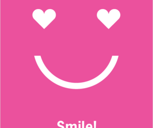 pink and smile image
