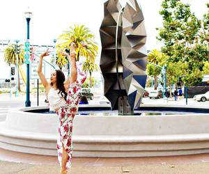 ballerina, colorful, and pointe image