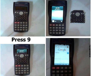 calculator, school, and funny image
