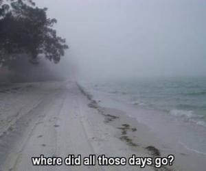 alone, beach, and days image