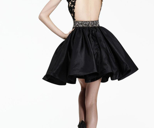 dress, black, and prom dress image