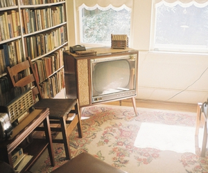 vintage, book, and tv image