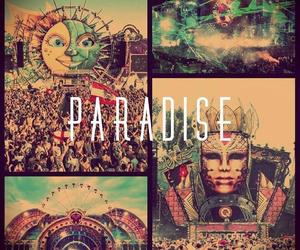 paradise, music, and Tomorrowland image