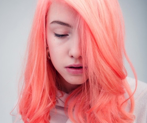hair, orange, and pink image