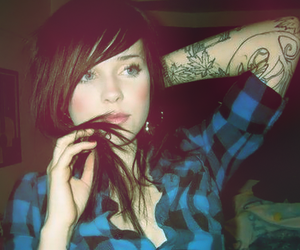 girl, tatoo, and imnotmotherfucker image