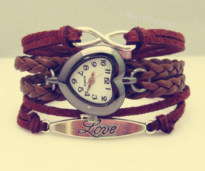 bracelet, brown, and fashion image
