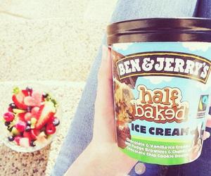 food, fruit, and ice cream image
