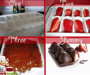 chocolate, diy, and strawberry image