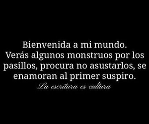 monstruo, frases, and amor image