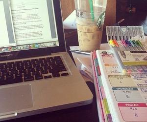 laptop, studying, and work hard image