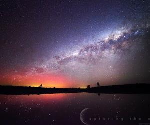 beautiful, galaxy, and lake image