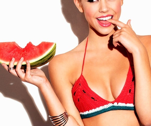 watermelon and girl image