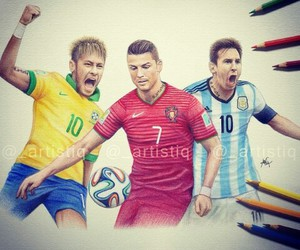art, drawing, and messi image