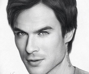 ian somerhalder, drawing, and art image