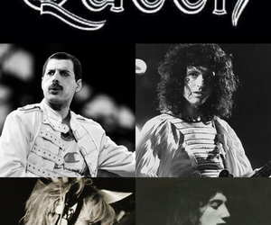 Freddie Mercury, roger taylor, and brian may image