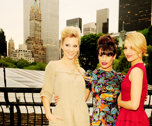 glee, dianna agron, and heather morris image