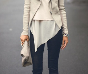 beige, fall, and jacket image