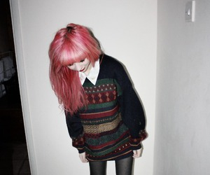 creepers, hair, and pink image