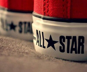all star, red, and shoes image