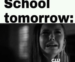 school, funny, and the vampire diaries image