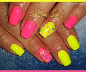 nail art, nails, and dotting nail image