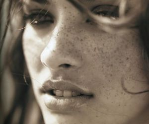 face, freckles, and sensual image