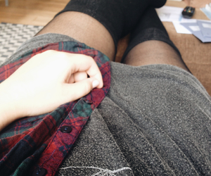 autumn, blouse, and check image
