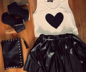 black clutch, black shoes, and outfit image
