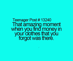 teenager post, funny, and money image
