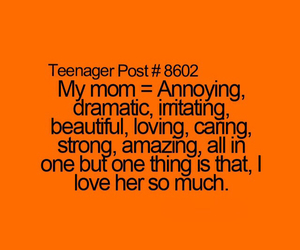 loving, mom, and strong image