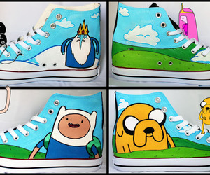 shoes and adventure time image