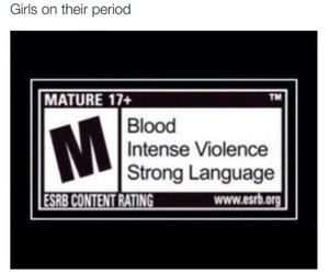 blood, funny, and period image