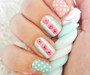 nails, pastel, and nail art image